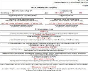 Правила заполнения транспортной накладной приложение 4 постановление от 30122020 консультант плюс
