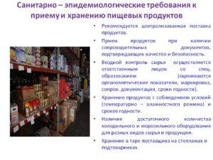 Санитарные правила продуктовые магазины