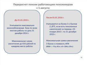 Сделают ли перерасчет пенсии в августе если год не отработан полностью