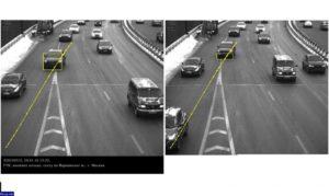 Штраф с камеры контроля полосы
