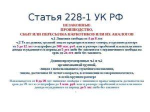Статья 228 Часть 4 Через Статью 30 Какой Минимум