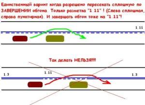 Разрешён ли обгон через сплошную линию crmp