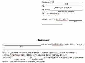 Форма Заявления На Опломбировку Электрического Счётчика При Новом Подключении