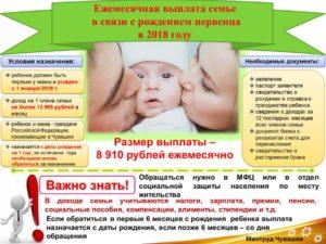 Пособие при рождении ребенка в первый год брака