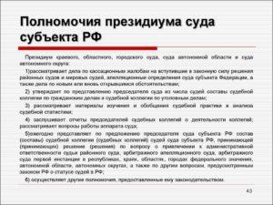 Президиум областного суда какая инстанция