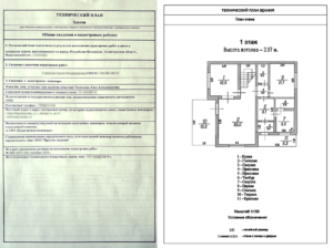Технический План Дома Образец 2020