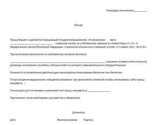 Рапорт на отпуск с последующим увольнением из фсин образец