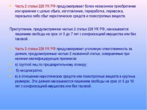 Возможно ли получить условный срок по статье 228 часть 2