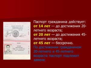 Во сколько лет меняют паспорт в 20 или 25 лет в рф