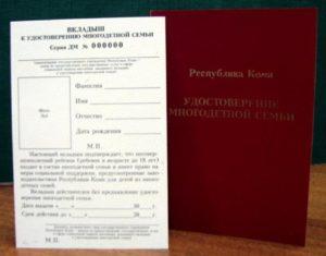 Какие документы нужны для продления удостоверения многодетной семьи