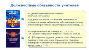 Должностная инструкция трудовой кодекс рф