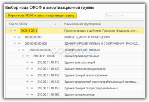 Ноутбук код окоф 2020 амортизационная группа
