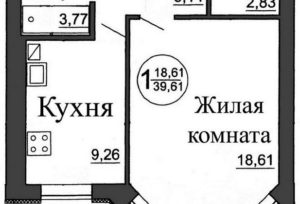 Сколько средний размер однокомнатной квартиры