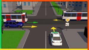 Разворот на нерегулируемом перекрестке неравнозначных дорог видео