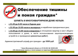 Воронеж закон о тишине 2020 когда можно шуметь