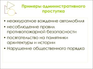Административные правонарушения примеры
