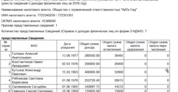 Бланк реестр сведений о доходах физических лиц за 2020 год бланк скачать