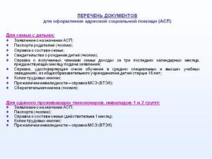 Список Документов Для Получения Адресной Социальной Помощи В Липецке