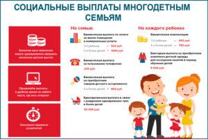 Сколько в москве платят за детский сад многодетным семьям